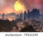 sunrise   sunset over alien... | Shutterstock . vector #79314190