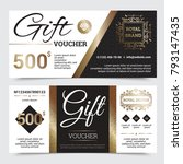 gift coupon royal design with...   Shutterstock . vector #793147435