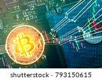 bitcoin trading market concept  ... | Shutterstock . vector #793150615