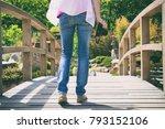 photographer woman holding a...   Shutterstock . vector #793152106