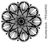 mandalas for coloring book.... | Shutterstock .eps vector #793166902
