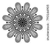mandalas for coloring book.... | Shutterstock .eps vector #793166905