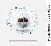 colorful smart city design... | Shutterstock .eps vector #793175392