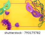 top view image of masquerade... | Shutterstock . vector #793175782