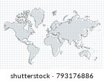 political map of the world.... | Shutterstock .eps vector #793176886