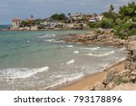 beautiful sea view on a small... | Shutterstock . vector #793178896