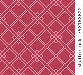red and pale pink geometric... | Shutterstock .eps vector #793183822