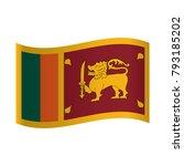 sri lanka flag  raster version. ... | Shutterstock .eps vector #793185202