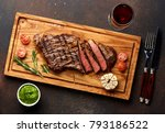 grilled black angus steak and a ... | Shutterstock . vector #793186522