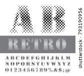 vector dotted halftone alphabet ... | Shutterstock .eps vector #793190956