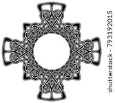 abstract vector black and white ... | Shutterstock .eps vector #793192015
