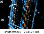 abstract fractal background.... | Shutterstock . vector #793197406