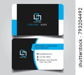 black white and blue name card...   Shutterstock .eps vector #793204492