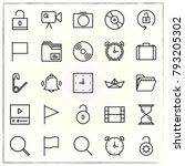 office line icons set compact... | Shutterstock .eps vector #793205302