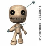 Voodoo Hoodoo Doll With Button...