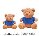 Brown Teddy Bear Wear Blue...