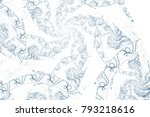 abstract fractal background.... | Shutterstock . vector #793218616