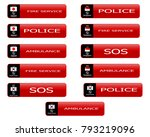 web buttons with hotline... | Shutterstock .eps vector #793219096