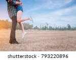 romantic moment  embracing... | Shutterstock . vector #793220896