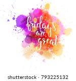 watercolor imitation splash... | Shutterstock .eps vector #793225132