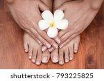 hands spa.manicure concept | Shutterstock . vector #793225825
