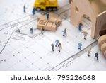 miniature worker  the concept... | Shutterstock . vector #793226068