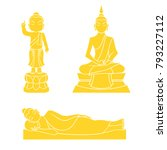 graphic vector of buddha for... | Shutterstock .eps vector #793227112