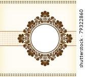 vector vintage floral ...   Shutterstock .eps vector #79322860