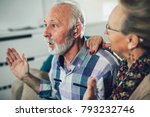 older man and woman or... | Shutterstock . vector #793232746