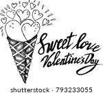 sweet love  valentine's day ...   Shutterstock .eps vector #793233055