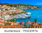 aerial view at hvar town in... | Shutterstock . vector #793233976