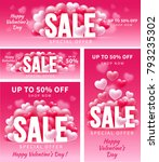valentines day sale. cover and... | Shutterstock .eps vector #793235302