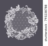 lace flowers frame decoration... | Shutterstock .eps vector #793238788