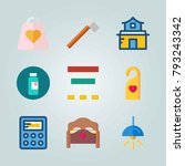 icon set about real assets.... | Shutterstock .eps vector #793243342