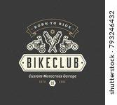 motocross logo template vector... | Shutterstock .eps vector #793246432