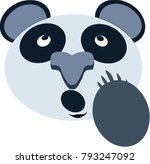 panda face with hand vector... | Shutterstock .eps vector #793247092