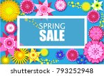spring background of bright... | Shutterstock .eps vector #793252948