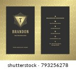 luxury business card and golden ... | Shutterstock .eps vector #793256278