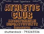 vintage font handcrafted vector ...   Shutterstock .eps vector #793265536