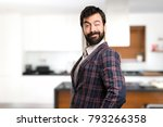 well dressed man winking inside ... | Shutterstock . vector #793266358
