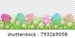 painted egg lying in spring... | Shutterstock .eps vector #793269058