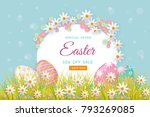 vector easter holiday poster ... | Shutterstock .eps vector #793269085