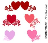 vector hearts. set for wedding ... | Shutterstock .eps vector #793269262