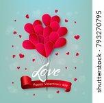 vector happy valentines day ... | Shutterstock .eps vector #793270795