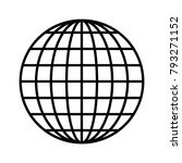 globe vector with a network of... | Shutterstock .eps vector #793271152