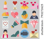 icons set about wedding. with... | Shutterstock .eps vector #793272625