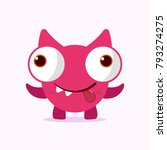 cute crazy monster. crazy... | Shutterstock .eps vector #793274275
