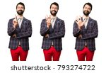 set of well dressed man... | Shutterstock . vector #793274722