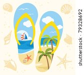 vector illustration of a sandal ... | Shutterstock .eps vector #79328692