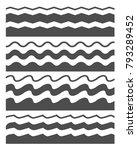 vector wave black on white... | Shutterstock .eps vector #793289452